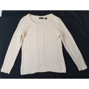 Jeanne Pierre cable knit sweater size medium